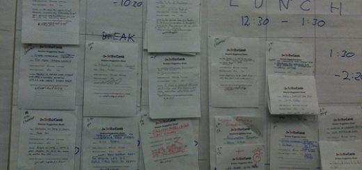 SCiBarCamp schedule - organising science unconferences