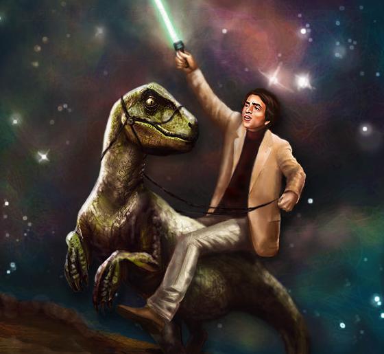 Carl Sagan non a velociraptor