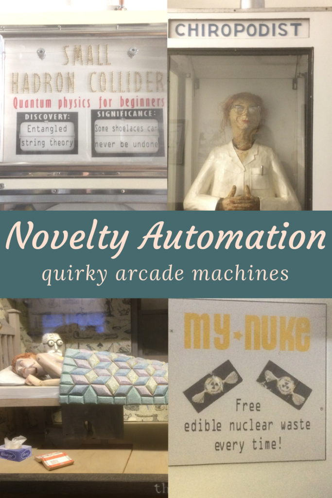Novelty Automation is a quirky arcade, and an art project by engineer and artist Tim Hunkin. All the machines are unique, one-of-a-kind, working games.