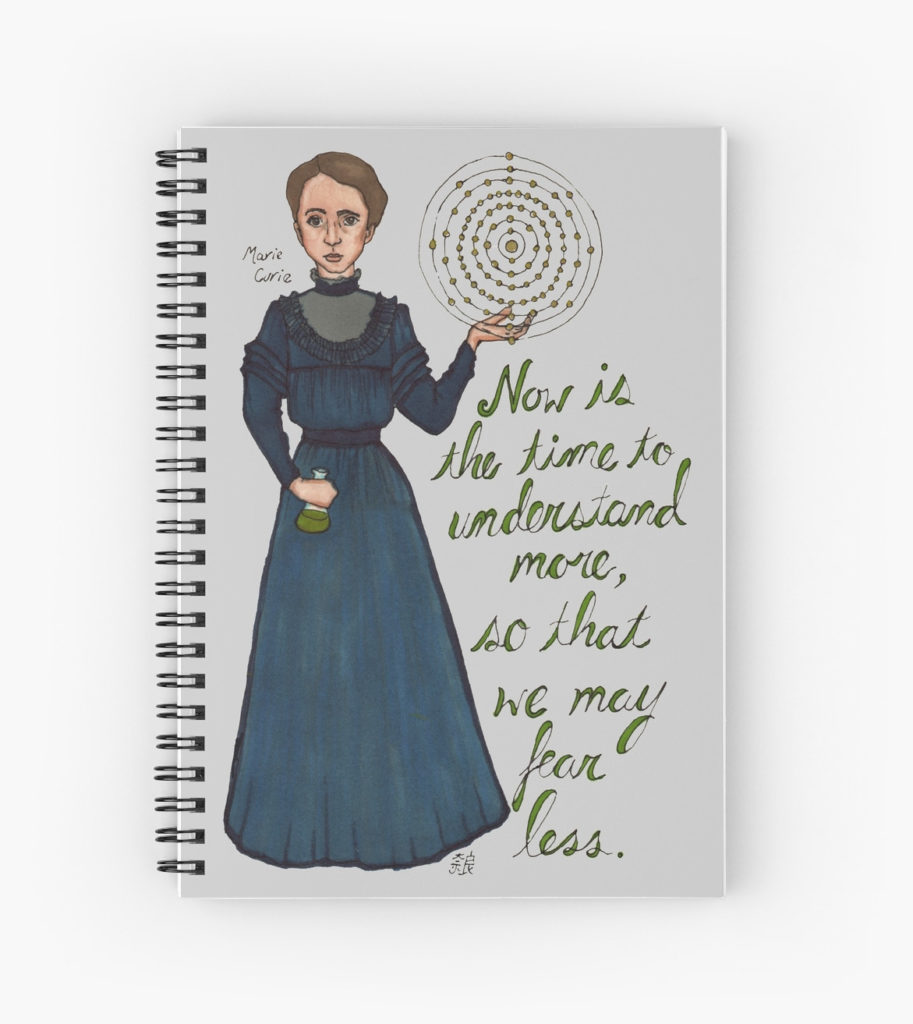 Marie Curie notebook - by neuroticowl - Back to School science