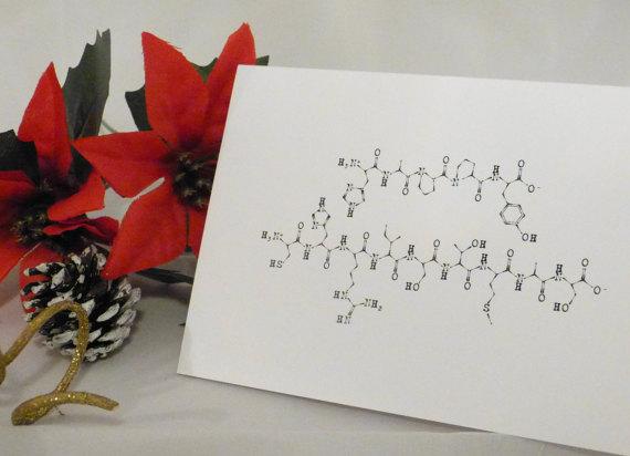 Christmas card molecule - MolecularAlphabet