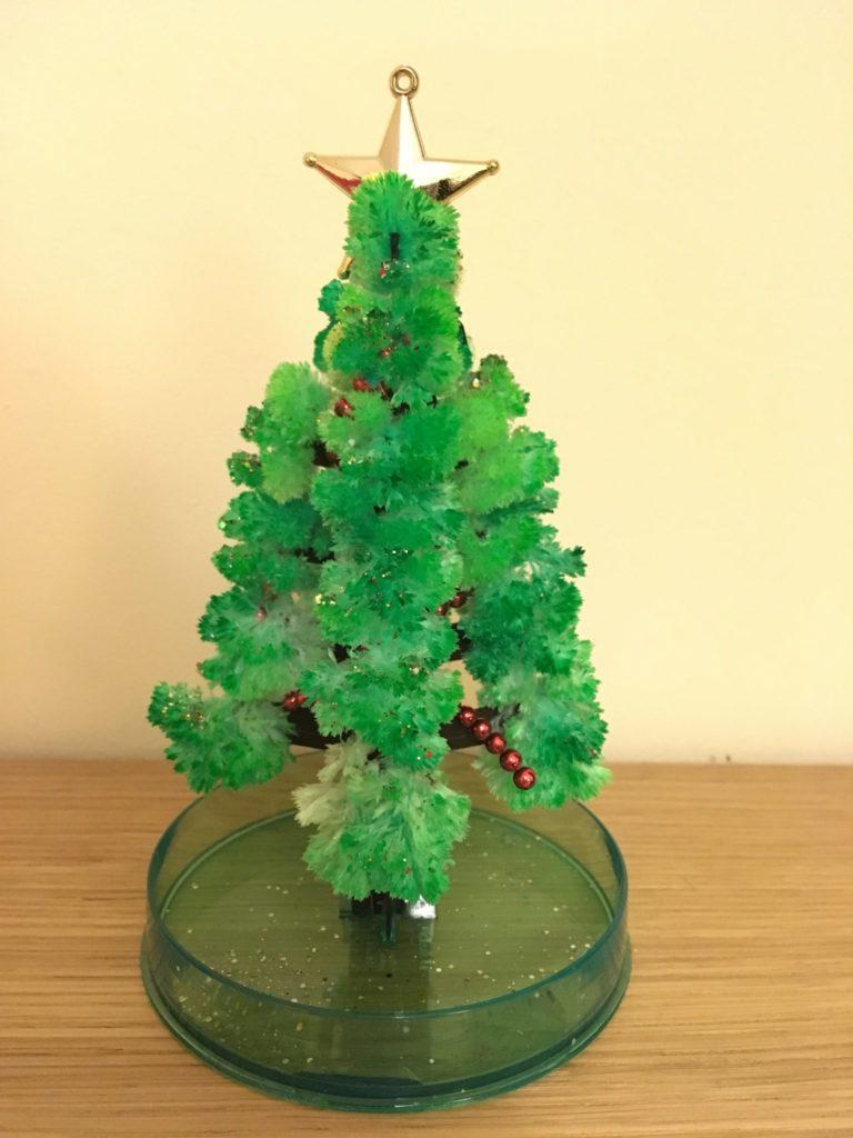 crystal growng christmas tree