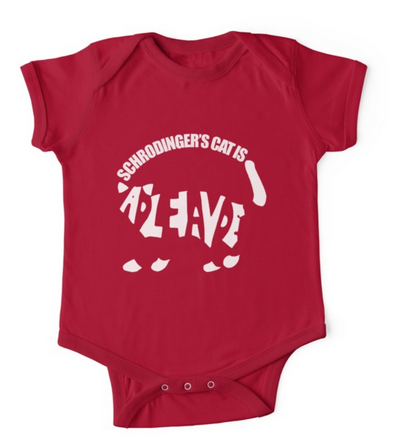 Schroedinger's cat baby shirt