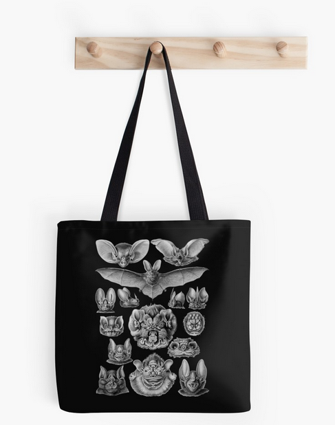Haeckel bat tote bag