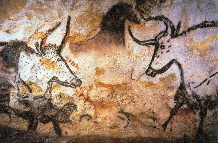Cave drawings from France.